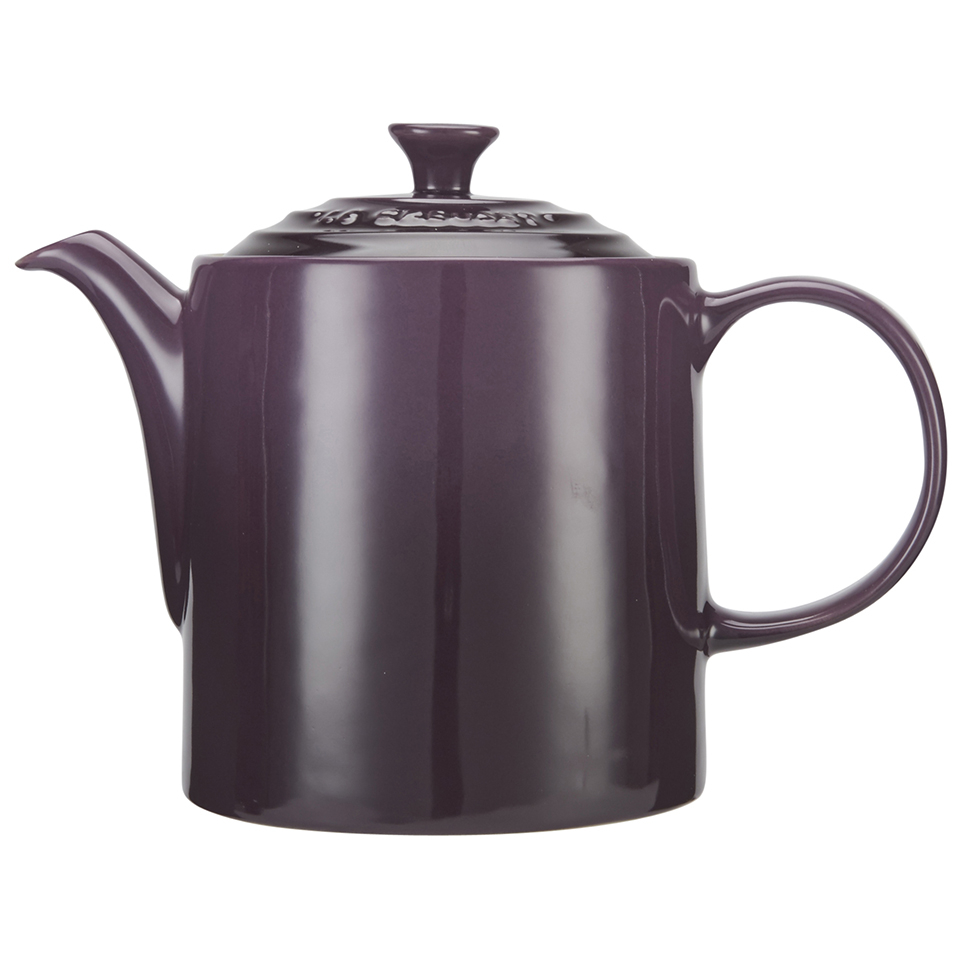 le creuset stoneware grand teapot 1 3l cassis homeware. Black Bedroom Furniture Sets. Home Design Ideas