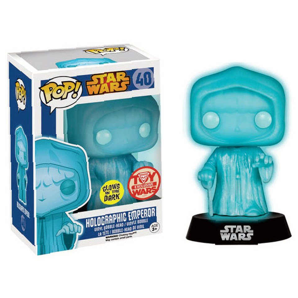 Star Wars Emperor Glow-In-The-Dark Holographic Pop! Vinyl Bobble Head Figure