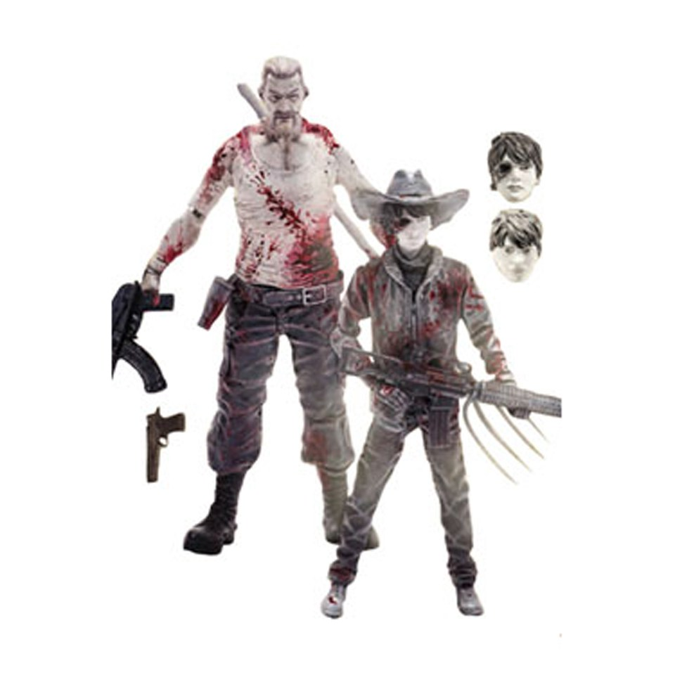 McFarlane The Walking Dead Abraham Ford and Carl Grimes Previews Exclusive 2-Pack Action Figures