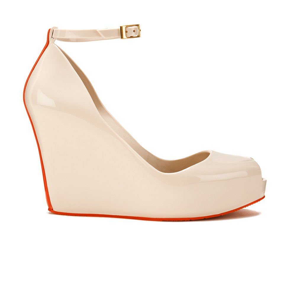 4d643d8688 Melissa Women's Patchuli 14 Stripe Wedges - Cream Red - Free UK ...
