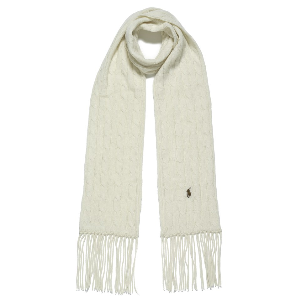 85dfe62fc78 Polo Ralph Lauren Women s Scarf - Guide Cream - Free UK Delivery ...
