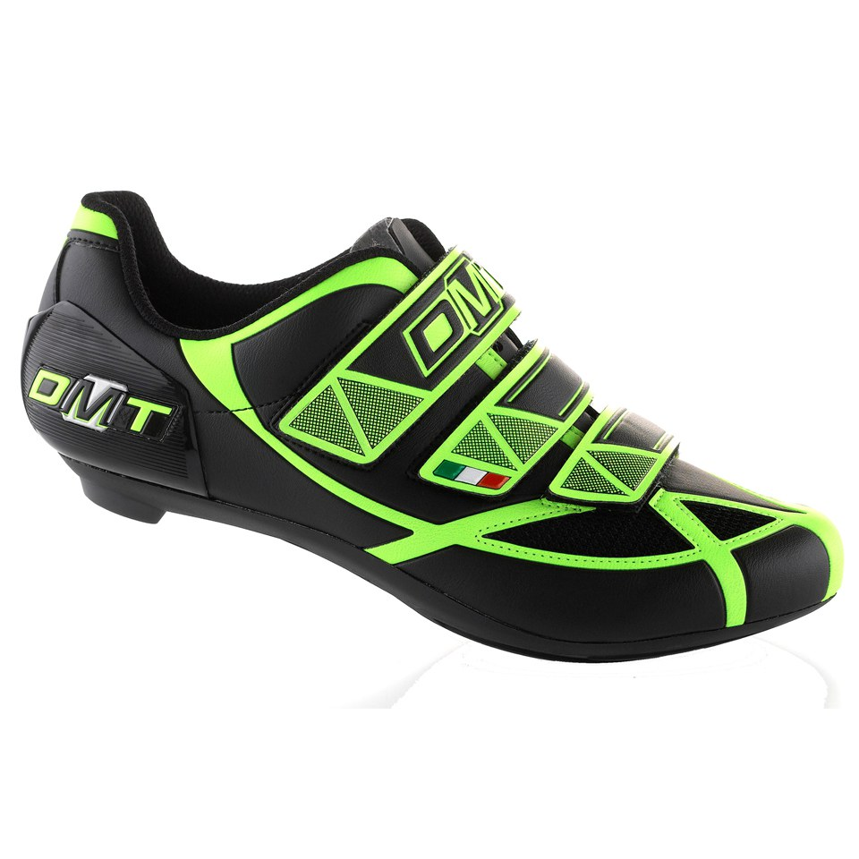 DMT Aries Road Shoes - Black/Yellow Fluo