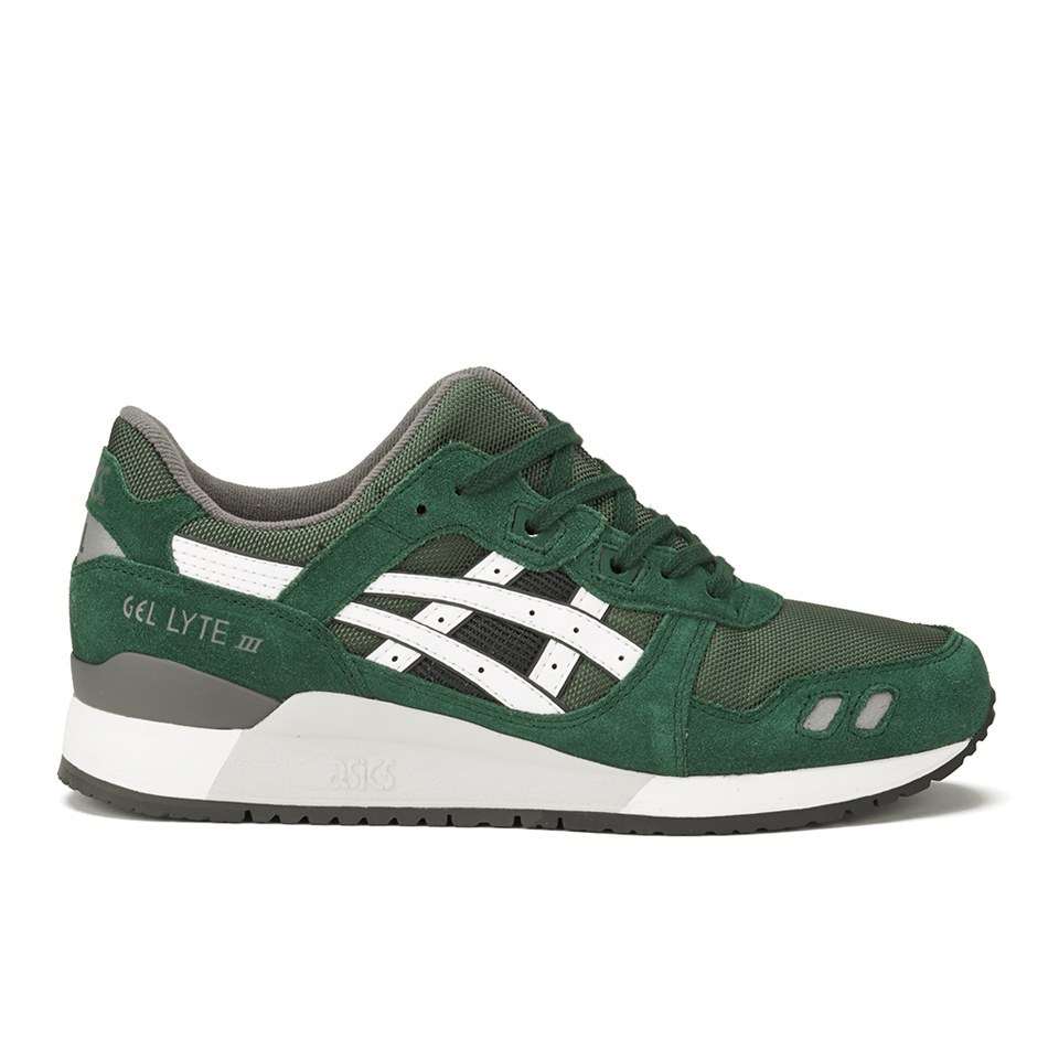 info for 79ba2 fdb9d Asics Lifestyle Men's Gel-Lyte III (Varsity Pack) Trainers - Dark  Green/White
