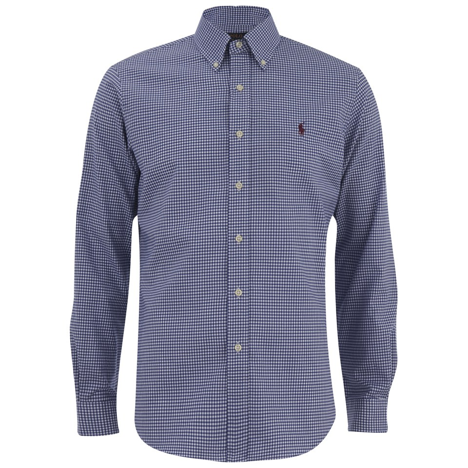 5a5b253829eed7 Polo Ralph Lauren Men's Long Sleeve Oxford Shirt - Royal Azur - Free UK  Delivery over £50
