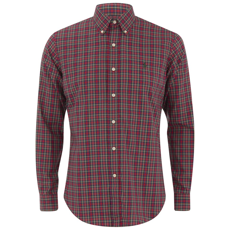 53cb350c ... Polo Ralph Lauren Men's Long Sleeve Button Down Checked Shirt - Red /Green