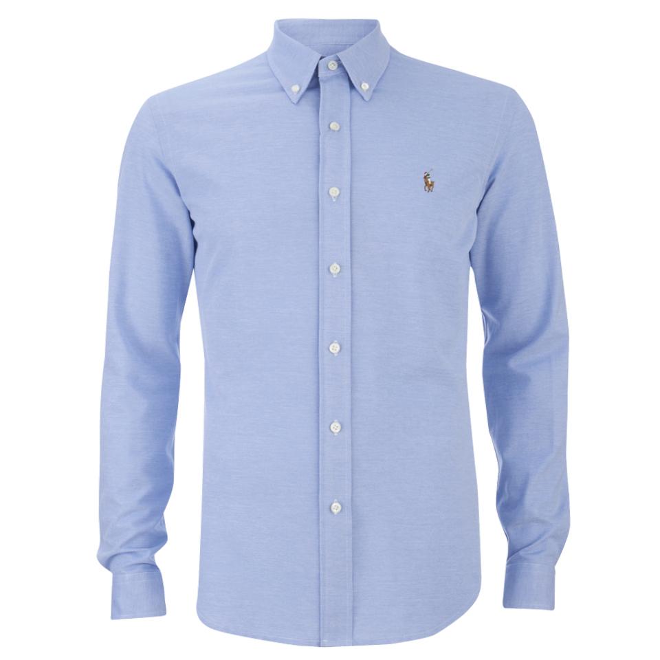 Polo ralph lauren men 39 s pique long sleeve button down for Lauren ralph lauren mens dress shirts