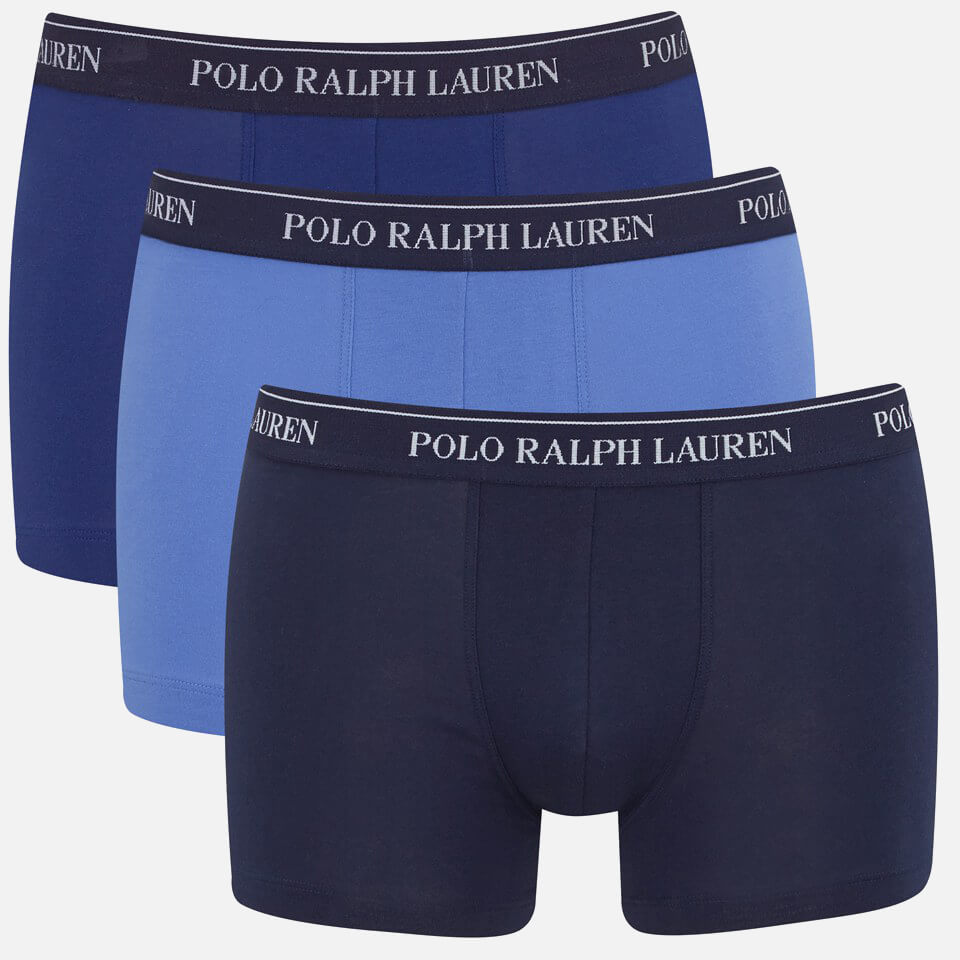 877c53f2f17e ... Polo Ralph Lauren Men's 3 Pack Trunk Boxer Shorts - Blue Denim