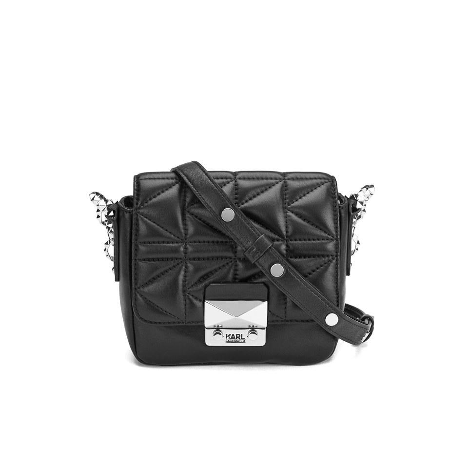 8524613137c4 Karl Lagerfeld Women s K Kuilted Cross Body Bag - Black - Free UK ...