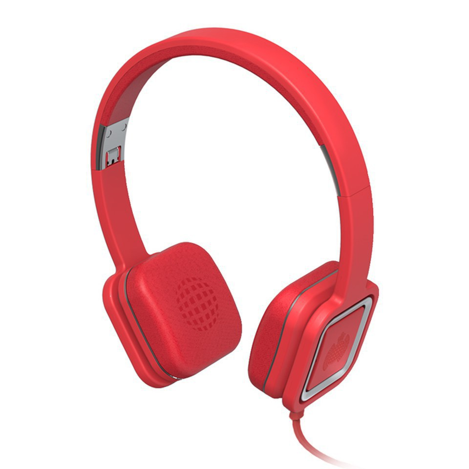 Ministry of Sound Audio On, On Ear Headphones - Red and Gun Metal