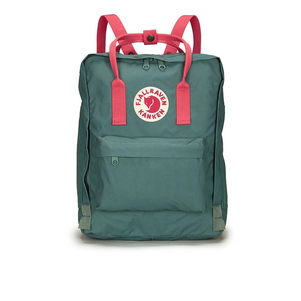 01ba2fe800c Fjallraven Kanken Backpack - Frost Green Peach Pink - Free UK ...