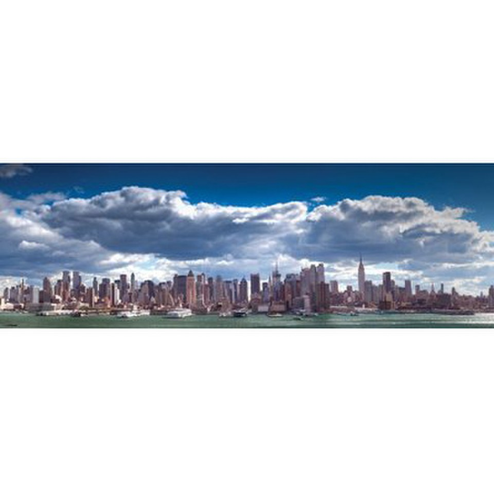New York Manhattan Skyline - 21 x 59 Inches Door Poster