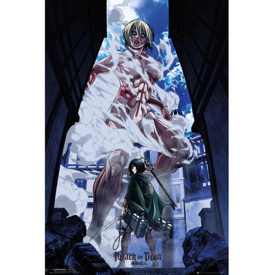 Attack On Titan Part 2 Art - 24 x 36 Inches Maxi Poster