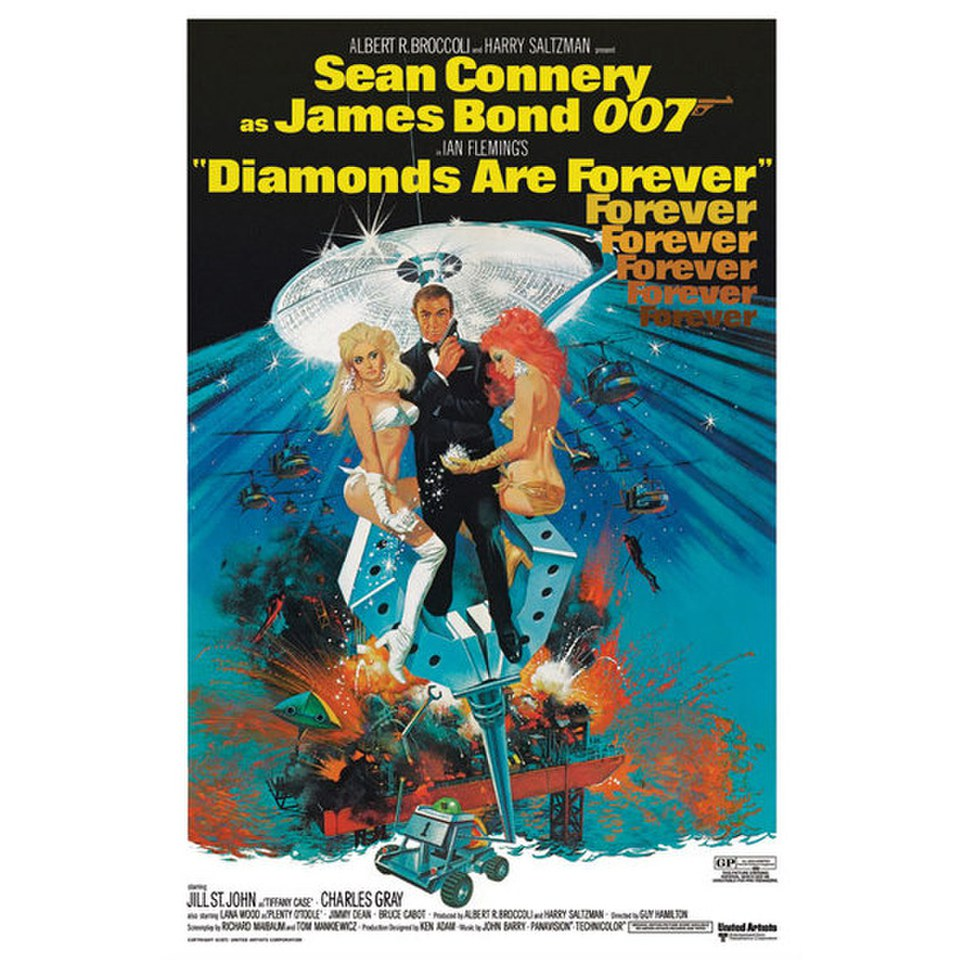 James Bond Diamonds Are Forever - 24 x 36 Inches Maxi Poster
