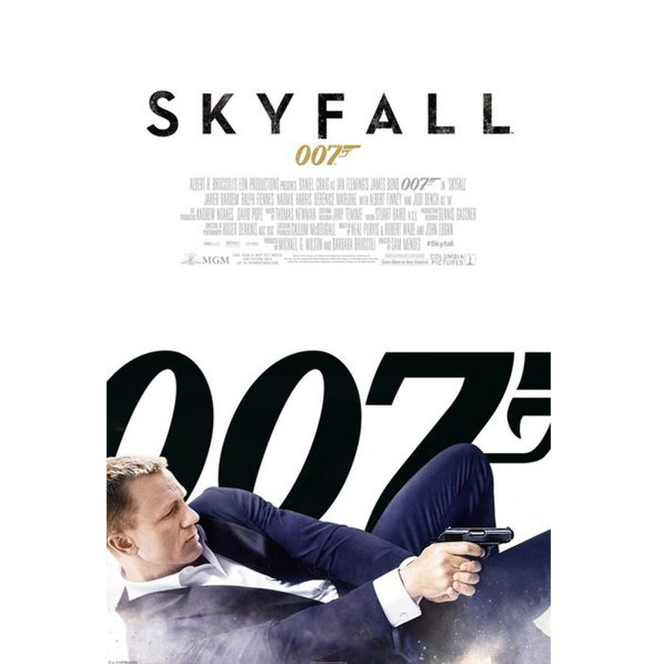 James Bond Skyfall White One Sheet - 24 x 36 Inches Maxi Poster
