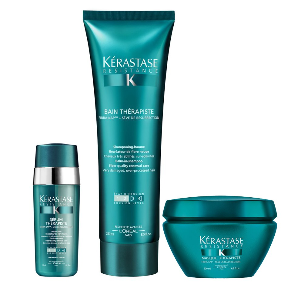 Kérastase Resistance Therapiste Shampoo, Masque and Serum Trio | Free Shipping | Lookfantastic
