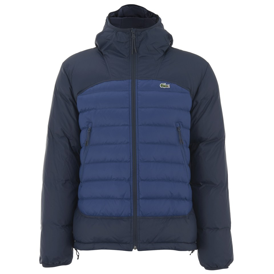 41a00218f670 Lacoste Men s Colour Block Padded Jacket - Navy - Free UK Delivery over £50
