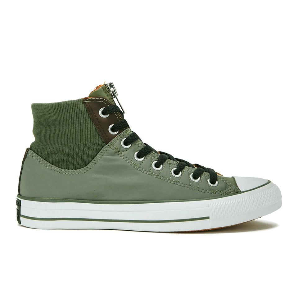 6fb5692ff8f8 Converse Men s Chuck Taylor All Star MA-1 Zip Hi-Top Trainers - Olive  Submarine Burnt Umber White Mens Footwear