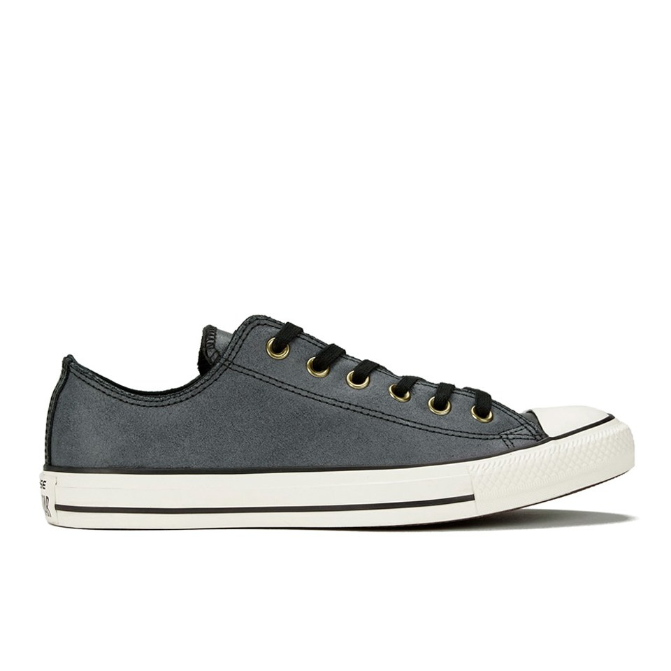 a4c6778603d475 ... Converse Men s Chuck Taylor All Star Vintage Leather OX Trainers -  Black Egret