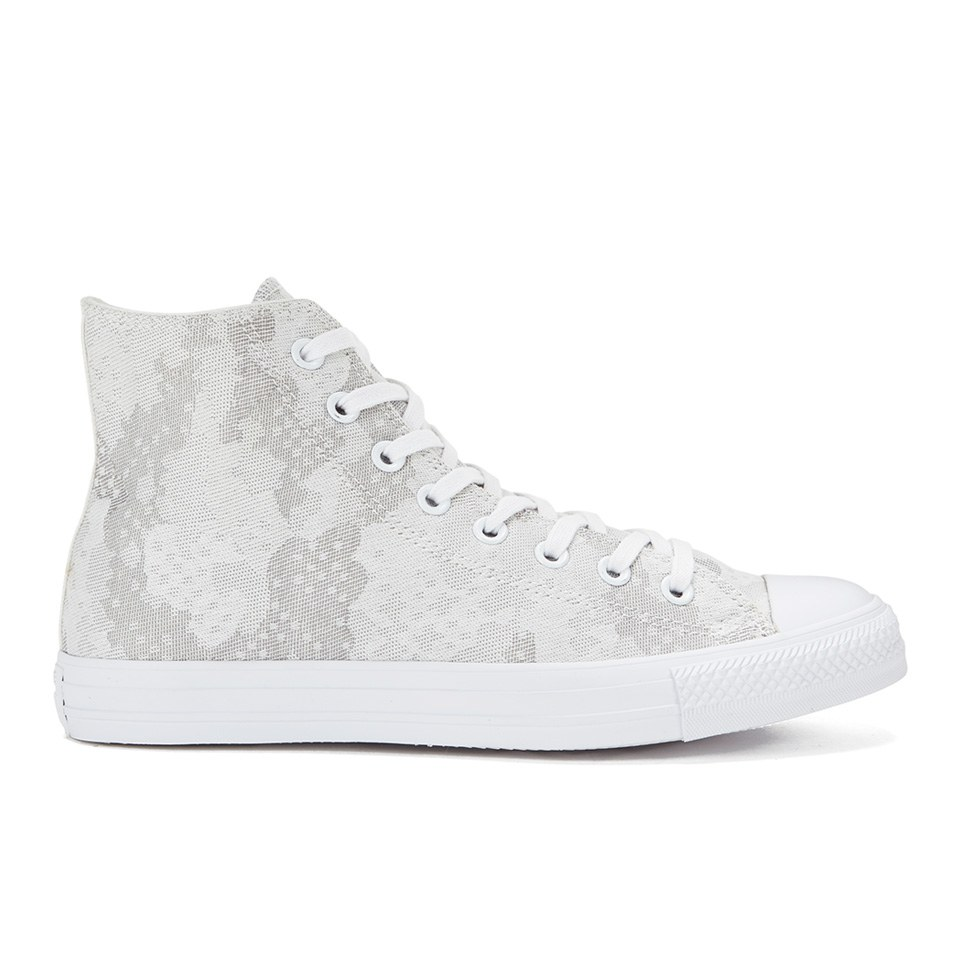 6d72aecaa86f3f ... Converse Men s Chuck Taylor All Star Jacquard Hi-Top Trainers -  White Mouse