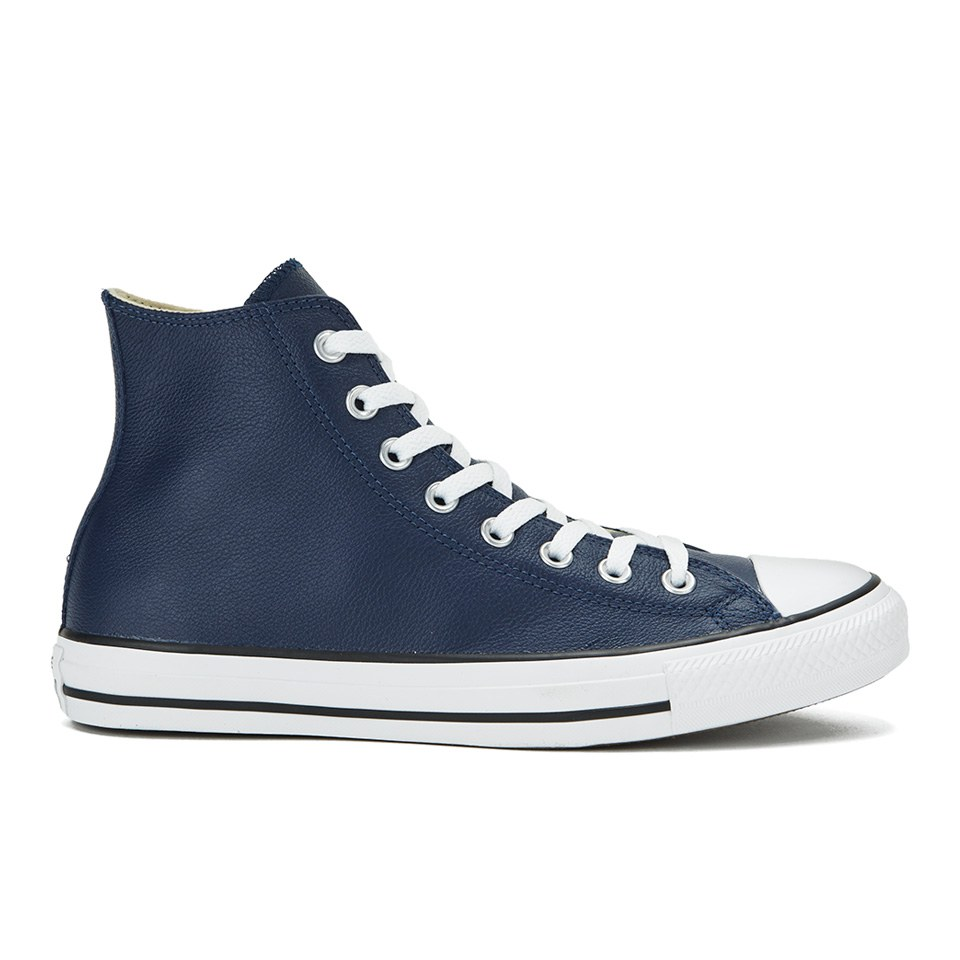 6dbb0ea2df97 Converse Men s Chuck Taylor All Star Seasonal Leather Hi-Top Trainers -  Nightime Navy Black White Mens Footwear