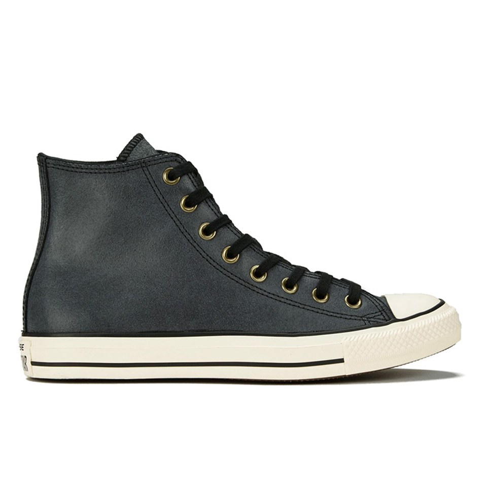 17ab6080eedfbb ... Converse Men s Chuck Taylor All Star Vintage Leather Hi-Top Trainers -  Black Egret