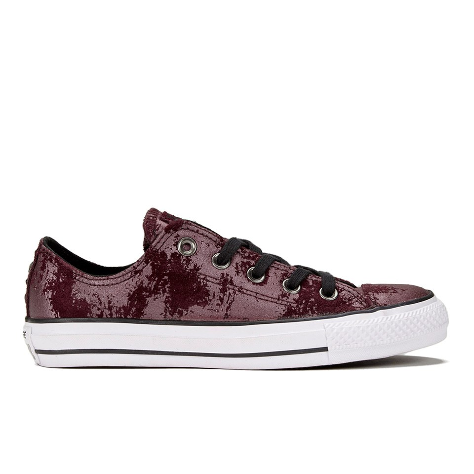 5285db98f013 ... Converse Women s Chuck Taylor All Star Hardware OX Trainers - Deep  Bordeaux Black White