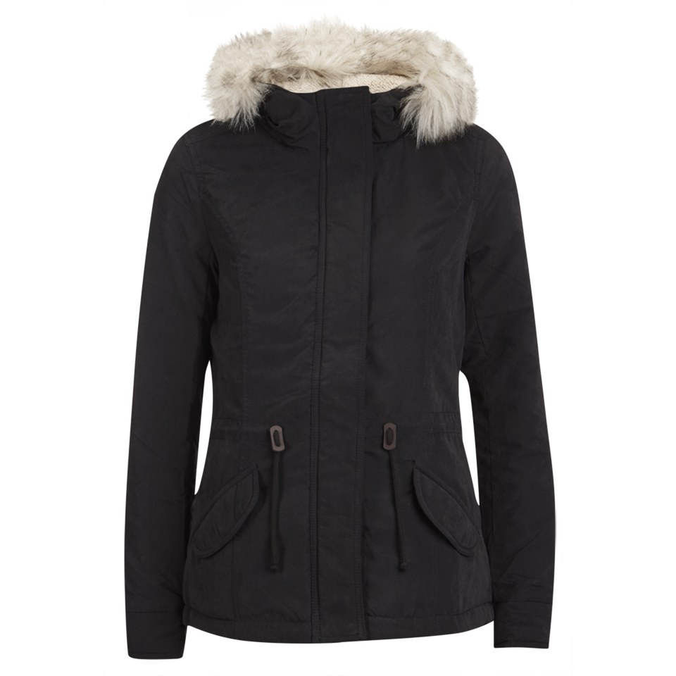 68734bd9 ONLY Womens Lucca Short Parka - Black Womens Clothing | TheHut.com