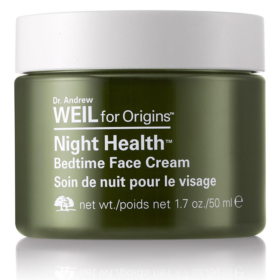 origins night health bedtime face cream