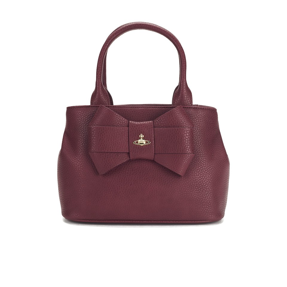 ad8a92f5ced Vivienne Westwood Women's Bow Tote Bag - Bordeaux - Free UK Delivery ...