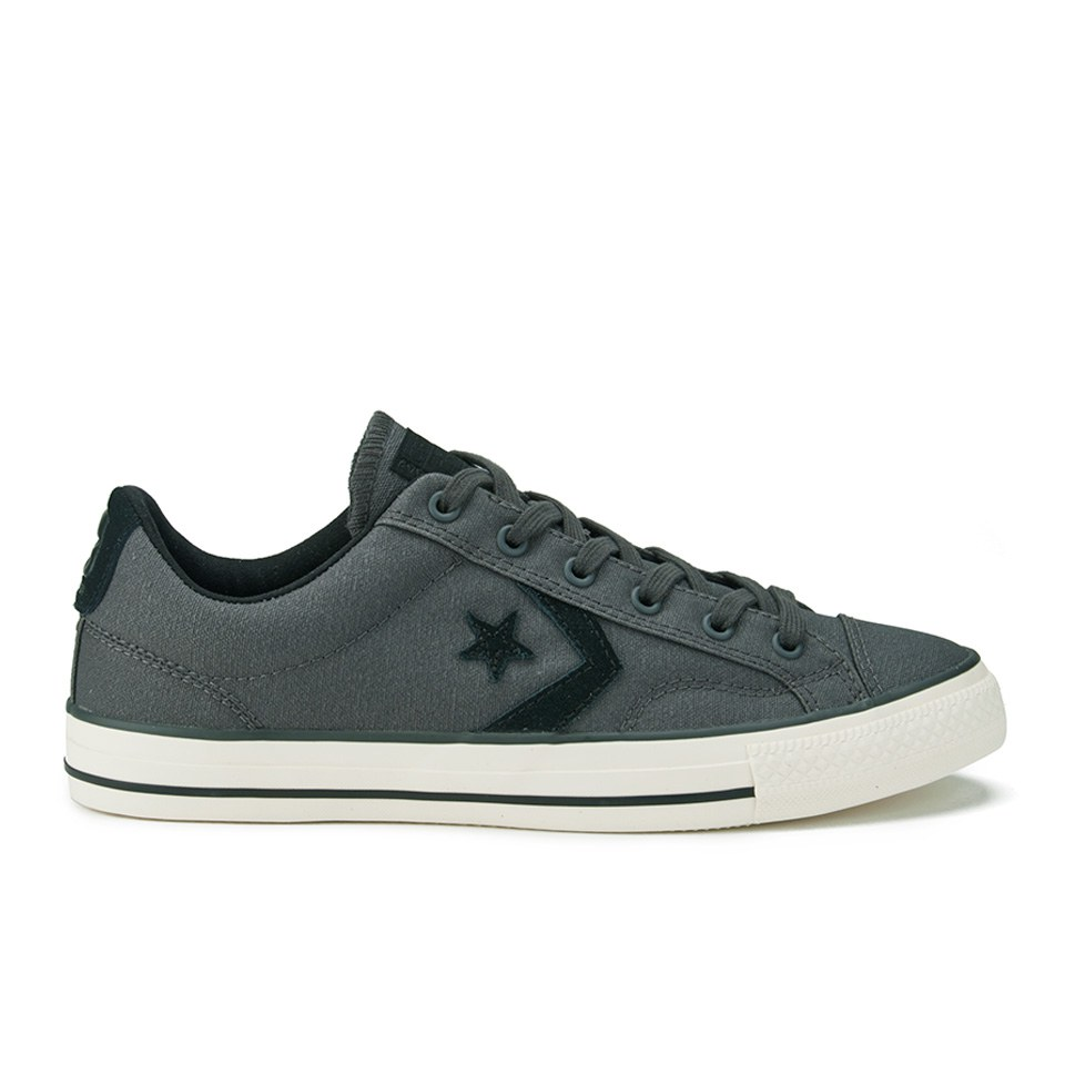 2e85298c6df0 ... Converse CONS Men s Star Player Waxed Canvas Trainers - Storm Wind Black  Egret