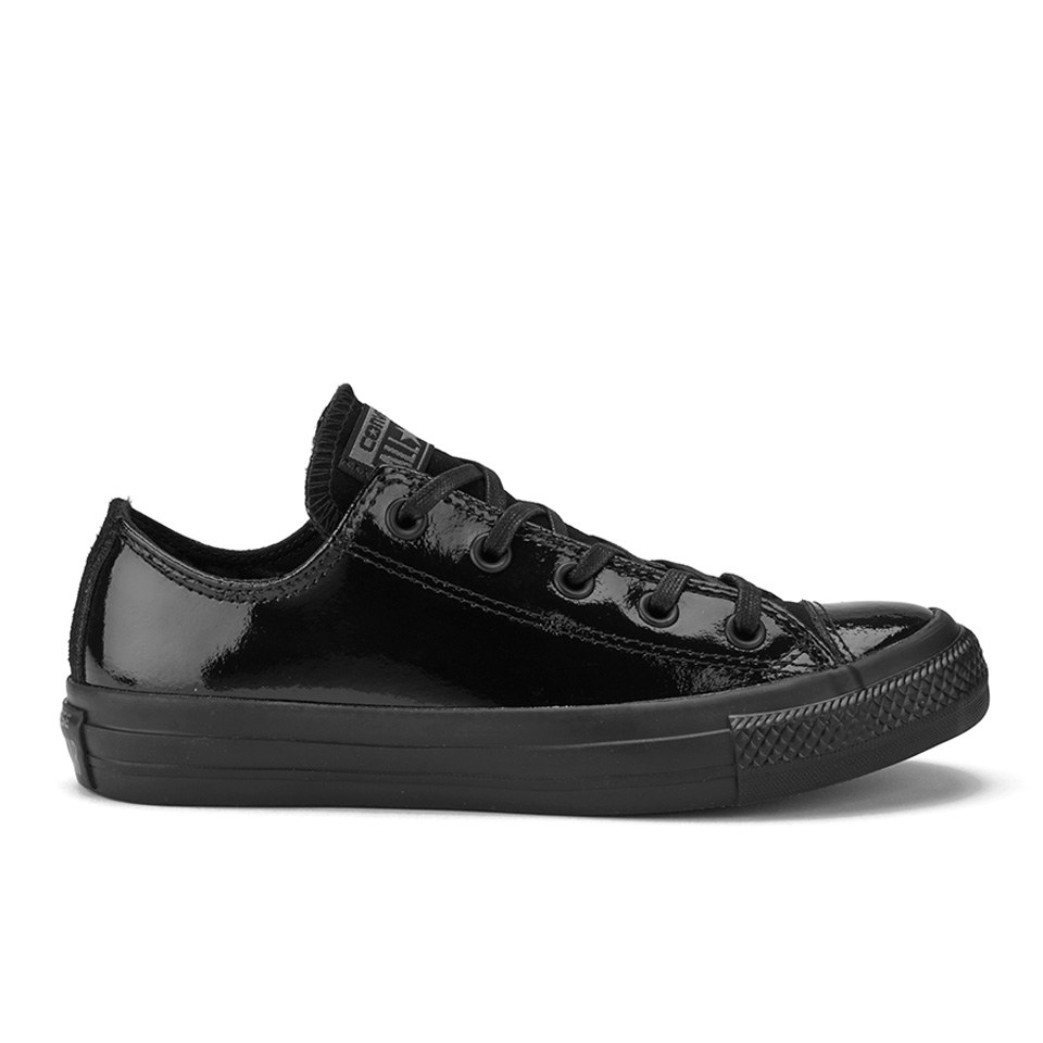 5f20272f88ec Converse Women s Chuck Taylor All Star Patent Leather Ox Trainers - Black  Clothing