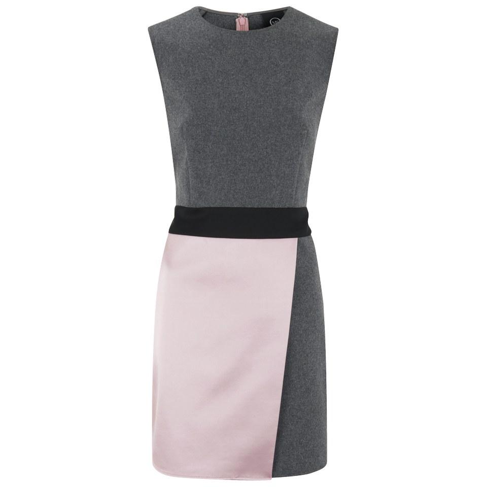 37e70e5abc9e2 ... McQ Alexander McQueen Women's Panelled Party Mini Dress - Charcoal