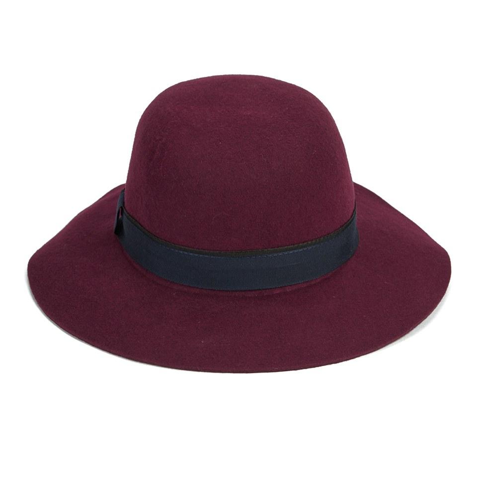 54551af6b355a Christys' London Womens Lola Floppy Brim Hat - Maroon - Free UK ...