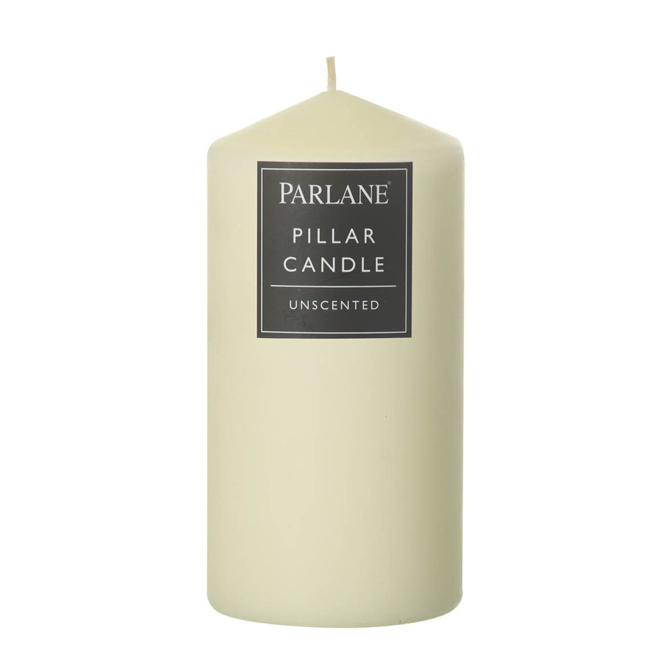 Parlane Unscented Pillar Candle - Ivory (152x76mm)