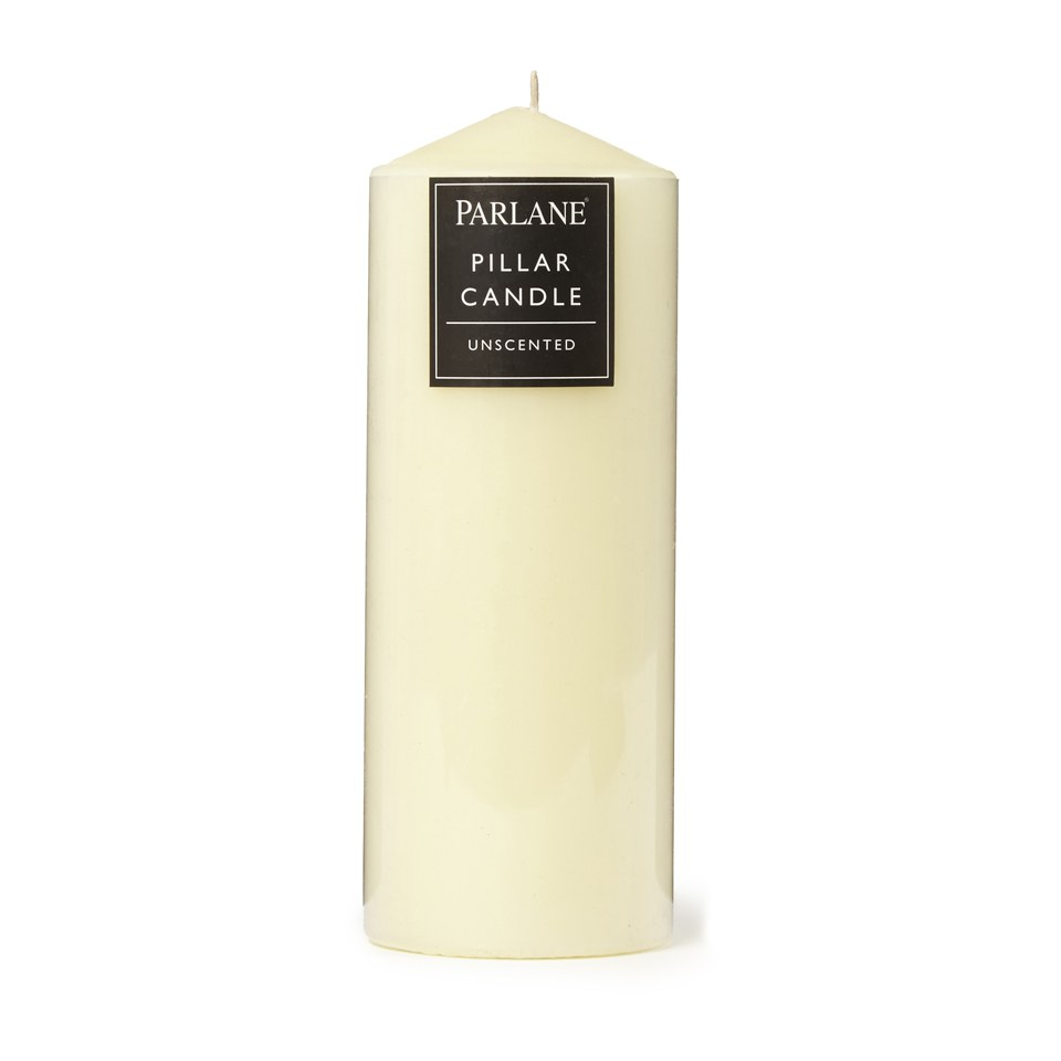 Parlane Unscented Pillar Candle - Ivory (203x76mm)