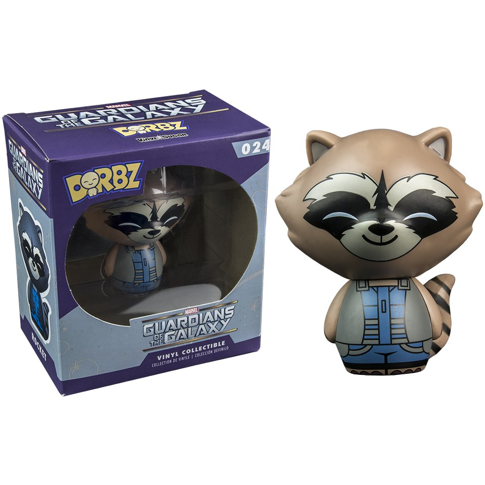 Marvel Guardians of the Galaxy Rocket Raccoon Nova Costume Vinyl Sugar Dorbz Action Figure