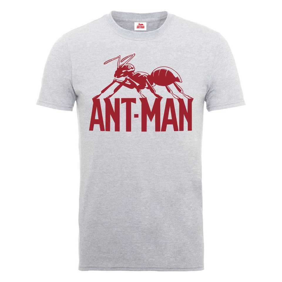 6a9e08b9f Zavvi Exclusive Marvel Men's Ant Man Logo T-Shirt - Heather Grey.  Description
