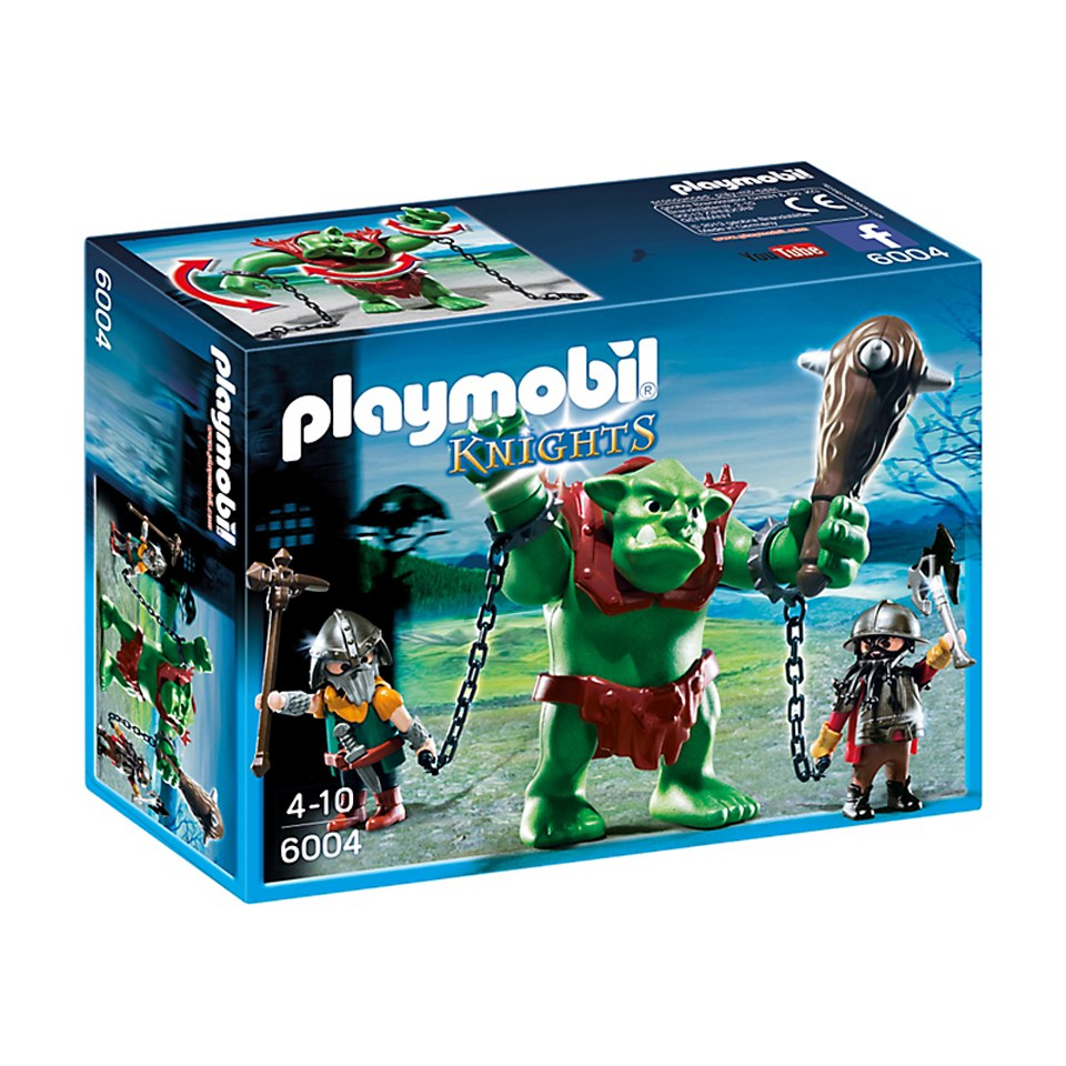 Playmobil Giant Troll with Dwarf Fighters (6004)