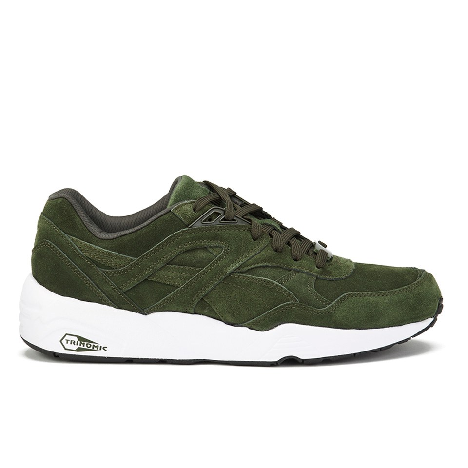 meet 63b1c 454f1 Puma Men's R698 Allover Suede Trainers - Forest Night