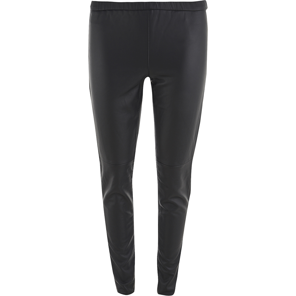 3f784034f0b151 MICHAEL MICHAEL KORS Women's Faux Leather Leggings - Black - Free UK  Delivery over £50
