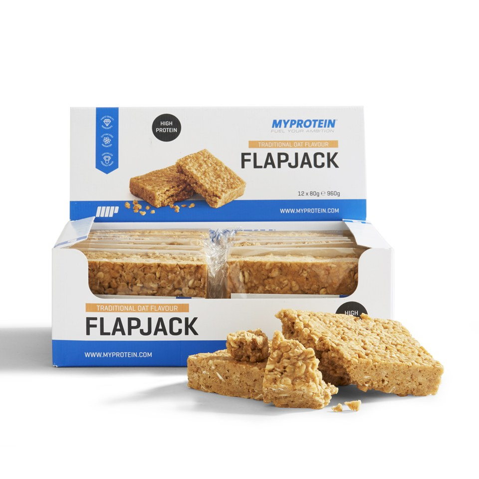 High Protein Flapjack, Traditional Oat, 12 x 80g