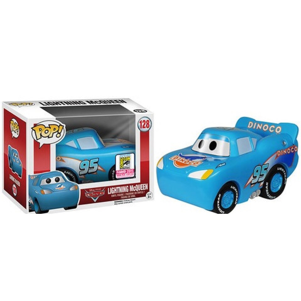 Disney Cars Lightning McQueen Dinoco Variant SDCC Exclusive Pop! Vinyl Figure