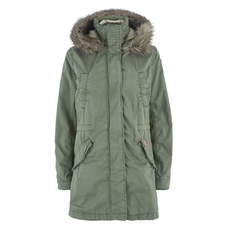 official photos b351e 08247 Superdry Women's Winter Rookie Military Parka Coat - Duty Green