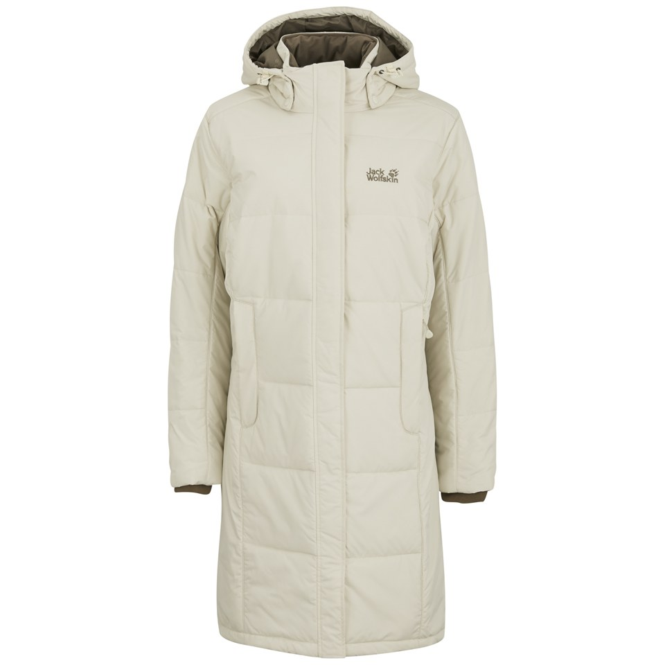Jack Wolfskin Women S Iceguard Hooded Coat White Sand