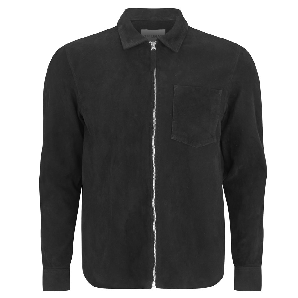 8c058190d4d7 Our Legacy Men s Suede Zip Shirt - Black - Free UK Delivery over £50