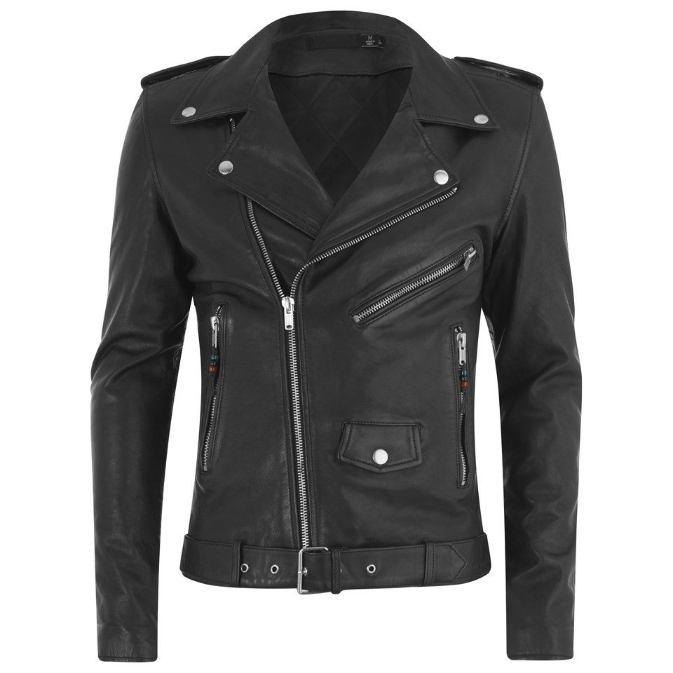 06a9e3824 BLK DNM Men's 5 Leather Biker Jacket - Black