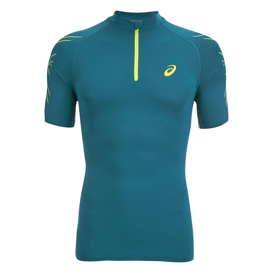 c6c1b0a3 Asics Men's IM 1/2 Zip Running T-Shirt - Mosaic Blue