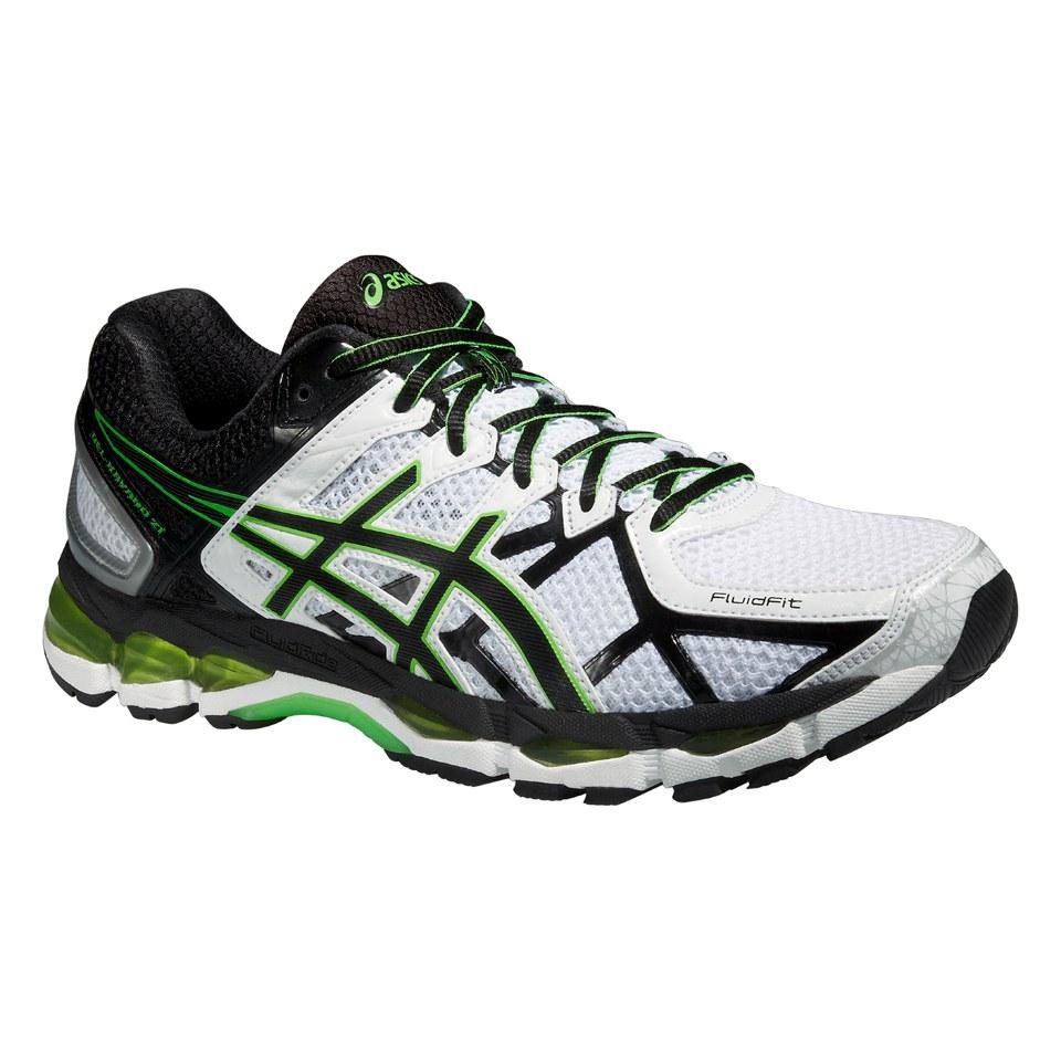buy online 0a6d2 4c0e9 Asics Men s Gel Kayano 21 Running Shoes - White Black Flash Green