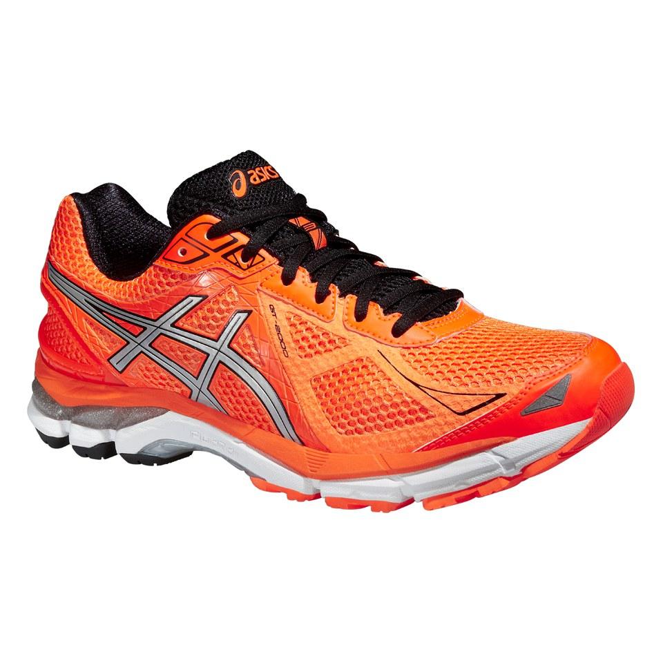5fdbcd75ed Asics Men s GT 2000 3 Running Shoes - Hot Orange Silver Black ...