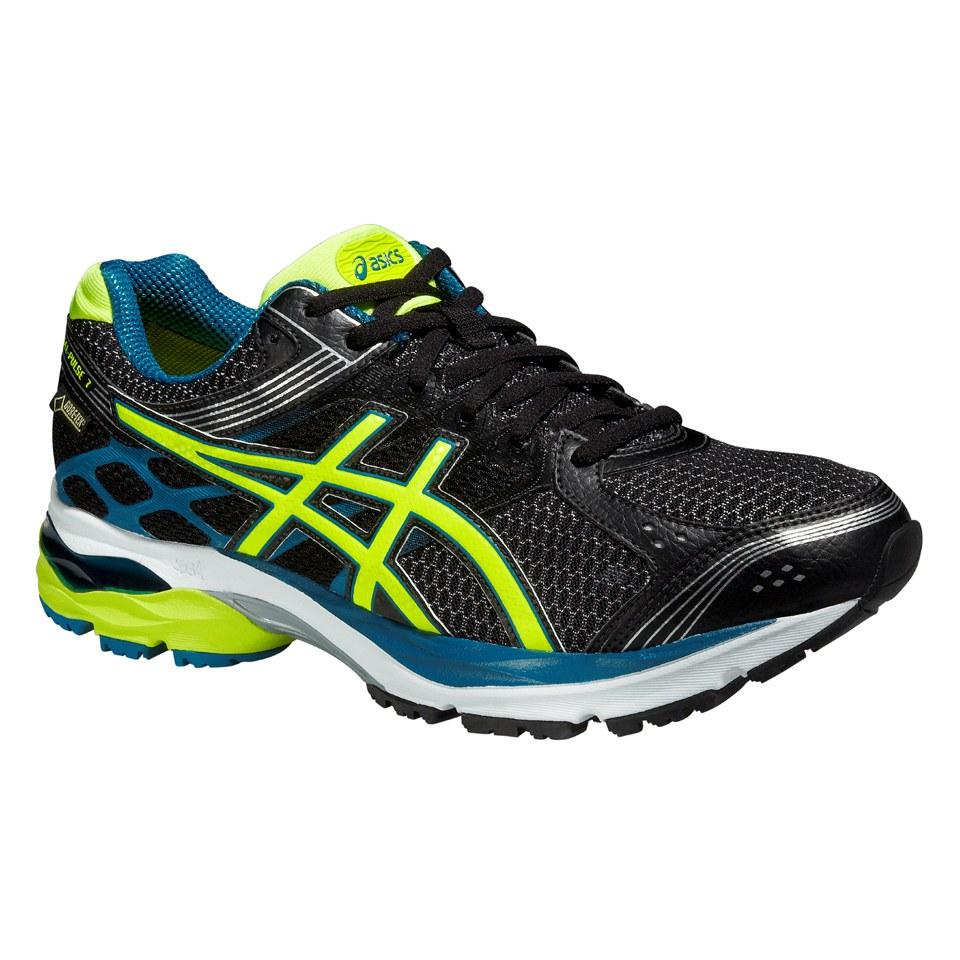 Asics Men's Gel Pulse 7 G TX Running Shoes BlackFlash YellowMosaic Blue